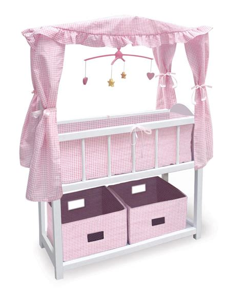 Doll Crib by New Badger Basket Canopy Baby Doll Crib 2 Baskets Ebay