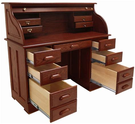Oak Roll Top Computer Desk 51 3 8 Quot W Solid Oak Roll Top Laptop Notebook Tablet Desk