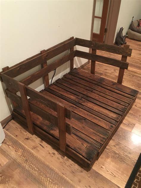 pallet dog beds double dog bed pallet dog bed pallet project diy mi