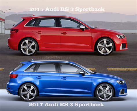 Audi Rs 3 Sportback by Vergleich 2015 Vs 2017 Audi Rs 3 Sportback Autofilou