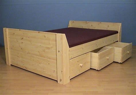 bedbank alkmaar bedbank massief hout met 3 diepe opbergladen