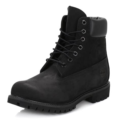 mens black leather boots timberland mens ankle boots black 6 inch nubuck leather