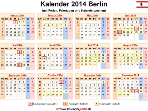 Design Kalender Berlin | ferien berlin als pdf kalender 2013 2014 2015 auto