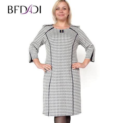 Kalung Fashion Weave Simple Design 1 bfdadi plus size xl 6xl fashion weave pattern o neck dress autumn winter simple style