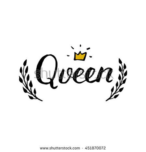 queen tattoo cursive queen stock images royalty free images vectors