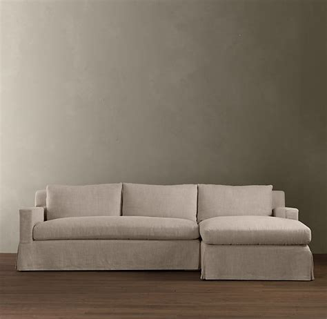 Restoration Hardware Sectional Sofa Belgian Track Arm Slipcovered Right Arm Sofa Chaise Sectional Sectionals Restoration