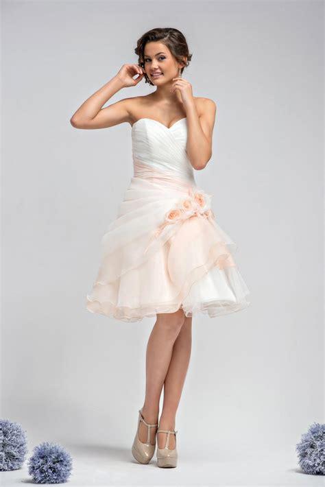 brautkleid rosa kurz standesamtkleid rosa wei 223 kurz drapiert kleiderfreuden