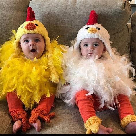 twin chicken costumes coordinating sibling costumes