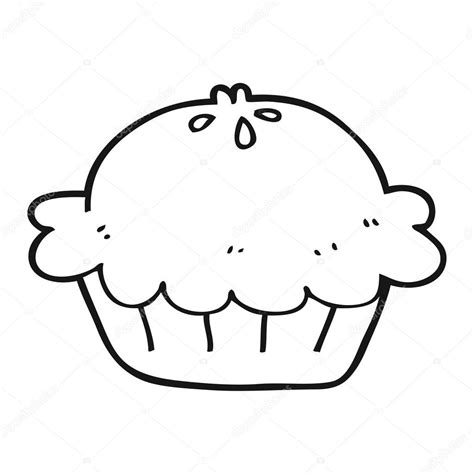 Black And White Black And White Pie Stock Vector