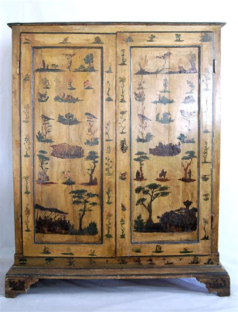 Decoupage Wardrobe - 19th century italian decoupage armoire for sale at 1stdibs