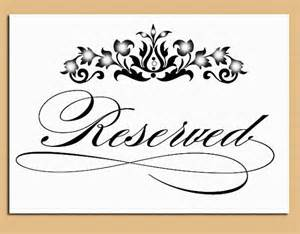 Reserved Cards For Tables Templates by Items Similar To Reserved Table Sign Wedding And Event