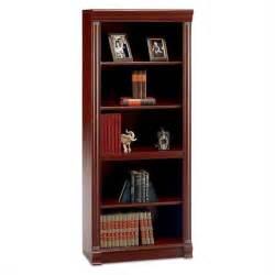 Wood Bookshelf Bush Furniture Birmingham 5 Shelf Wood Harvest Cherry