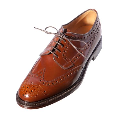 loake braemar gents mens leather brogue shoe leather