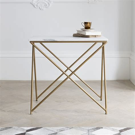 white side table stellar white marble side table