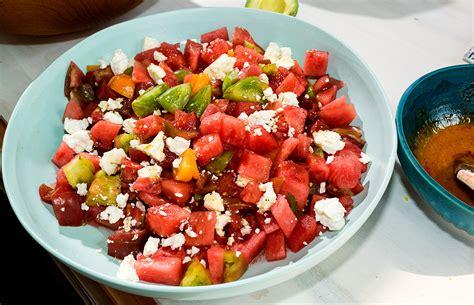 watermelon tomato salad how to make salad okfoodrecipes