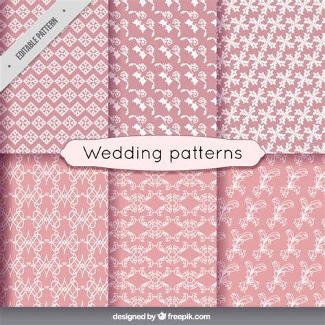 freepik wedding pattern floral wedding patterns in vintage style vector free
