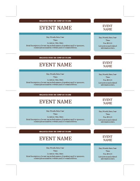 office depot printable ticket template event tickets free certificate templates in tickets