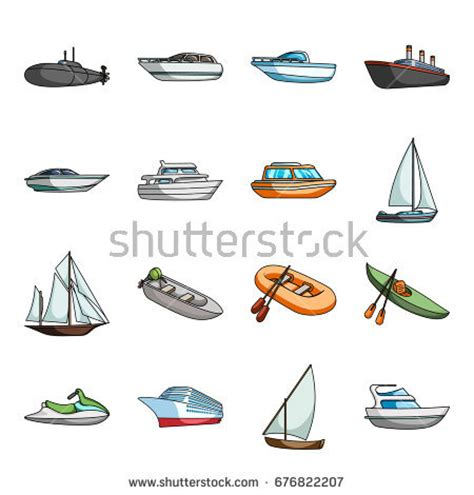 speed boat types motor boats catamaran windsurfer sailboat various stock