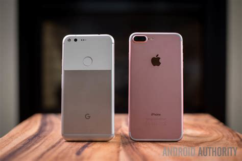 google pixel xl  apple iphone   android authority