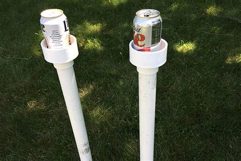 backyard drink holders backyard makeover with a fun game and cup holders
