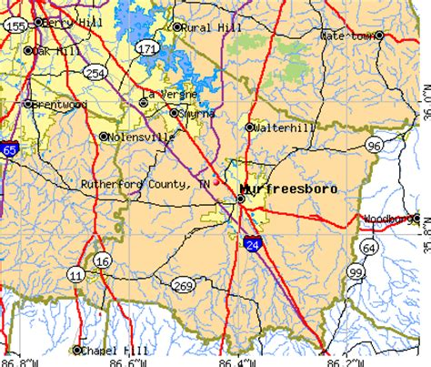 Rutherford County, Tennessee detailed profile - houses ... Rutherford Co