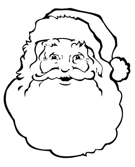 Galerry santa face coloring page template