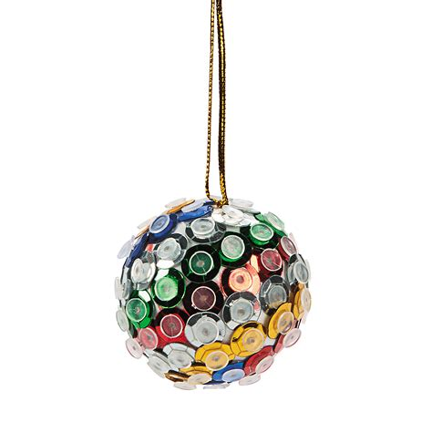 sequin ball christmas ornament craft kit oriental trading