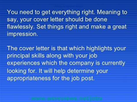 what is the meaning of cover letter what is cover letter