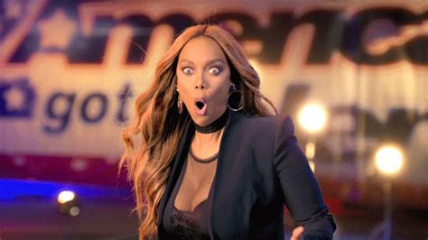 tyra banks just got a super short and super pretty pixie tyra banks omg gif by america s got talent find share