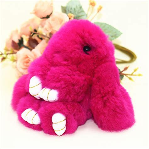 Fluffy Mini Pom Pom 1 っtrinket mini rabbit fur fur pom pom keychains