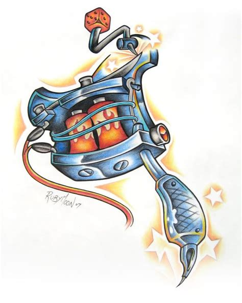 tattoo gun drawing gun designs machine image