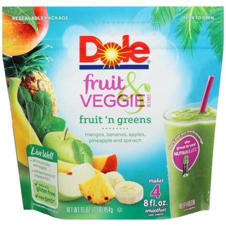 fruits n veggies dole fruit veggie blends fruit n greens smoothies 16