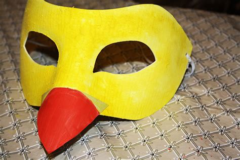 How To Make A Duck Beak Out Of Paper - how to make a bird beak mask