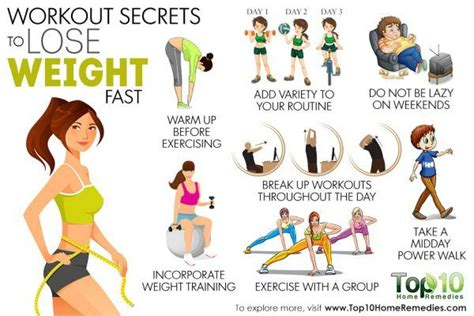 best exercise to lose weight 10 workout secrets to lose weight fast top 10 home remedies