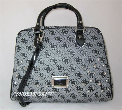 guess  marciano skya studded box dome satchel bag purse