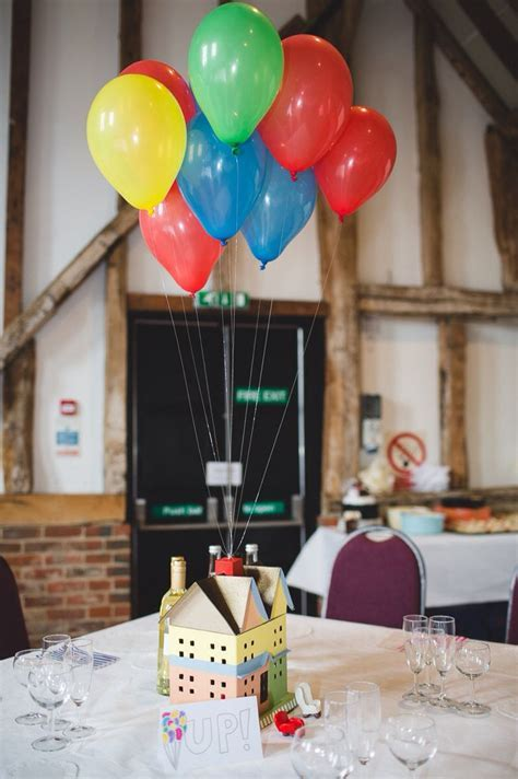 Disney theme wedding table centre pieces Up!   Wedding