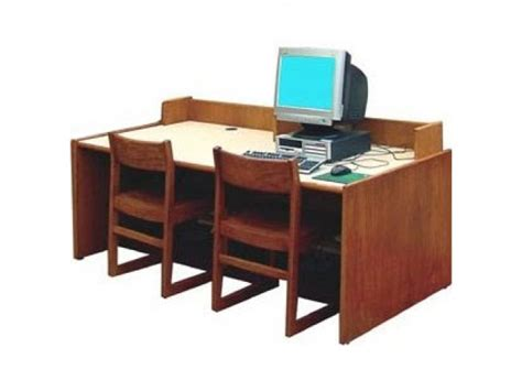 Library Computer Desk Library Computer Table With Curbing 72 Quot X36 Quot Computer Tables