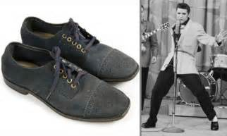 elvis blue suede shoes elvis s blue suede shoes on sale for 80k daily