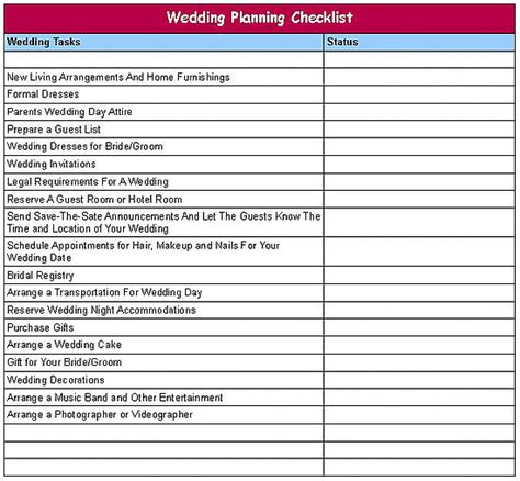printable simple wedding checklist basic wedding checklist 082286189c4088df printable wedding