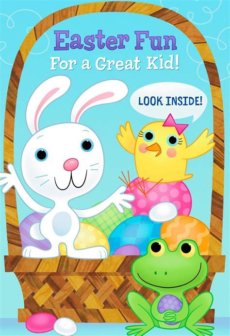 Fun and Games Kid's Activities Easter Card   Greeting