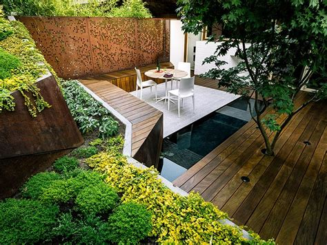 The view from above reveals each perfectly manicured garden level by