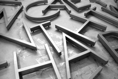 cast resin letters | shop front signs blog