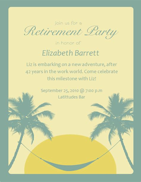 free printable retirement party invitations owensforohio info
