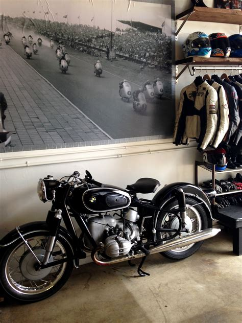 Garage Necessities by Vintage Motorcycle Garage Rental Helmets N Heels