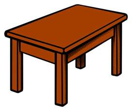 comic tisch clipart table coloured