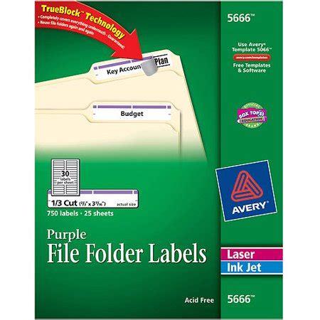 Avery Self Adhesive Laser Inkjet File Folder Labels 5666 Purple 750 Pack Walmart Com Avery Self Adhesive File Folder Labels 8 Per Sheet Template