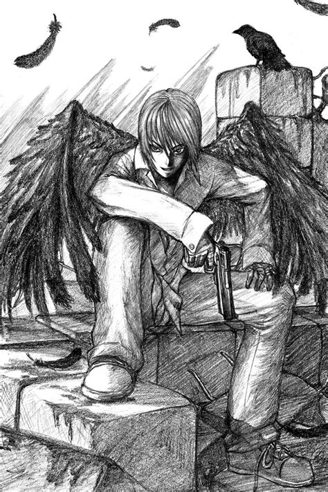 Random sketch - Badass Angel by jehanaruto on DeviantArt