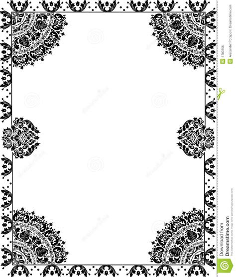 pattern with frame floral pattern with frame on white royalty free stock