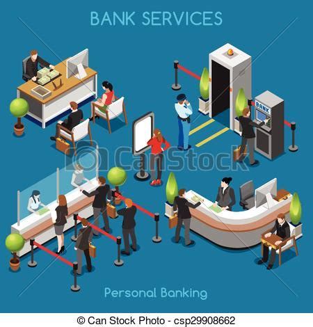Office Floor Plan Icons clip art vector of bank office 02 people isometric bank