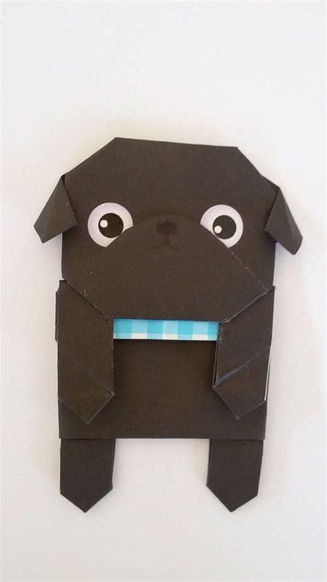 Cool Origami Bookmarks - paper pug origami bookmark handfold unique bookmark